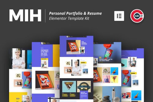 ThemeForest - MIH v1.0 - Personal Portfolio & Resume Template Kit - 28152989