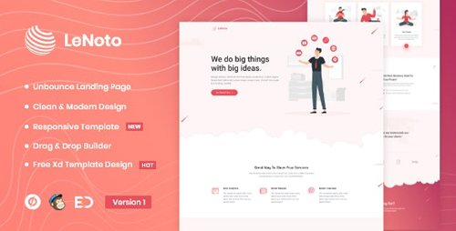 ThemeForest - LeNoto v1.0 - Isometric Business Unbounce Landing Page - 25902135