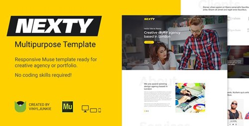 ThemeForest - Nexty v1.0 - Creative Multipurpose Portfolio /Agency Responsive Muse Template - 20824214