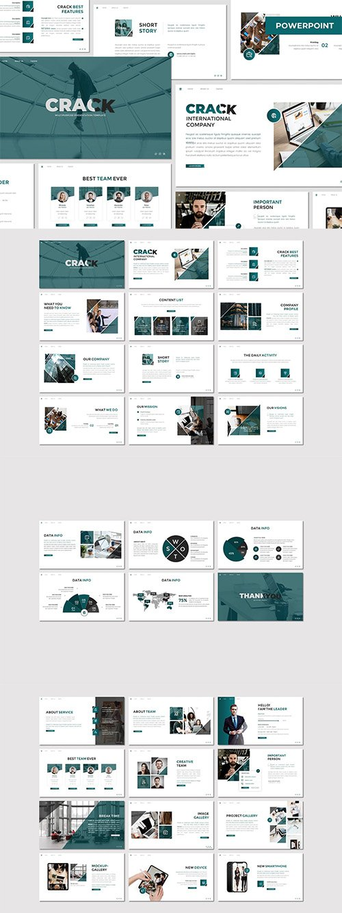 Crack - Business Powerpoint Template