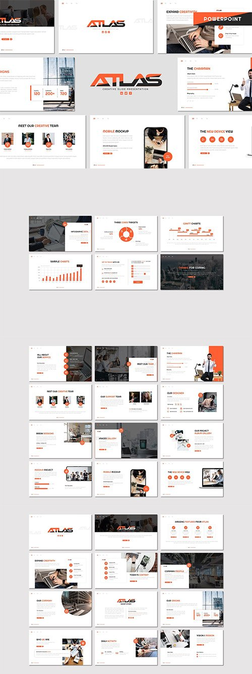 Atlas - Business Powerpoint, Keynote and Google Slides Template