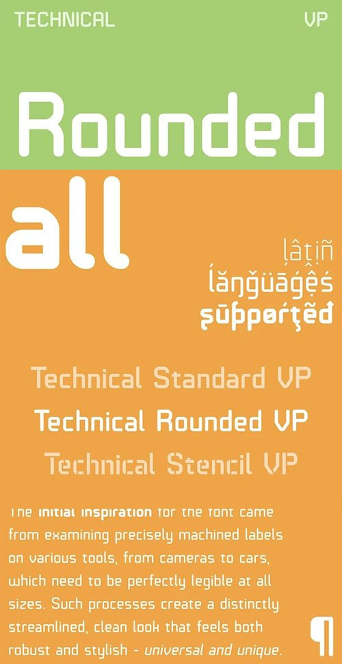 Technical Rounded Sans Serif Font