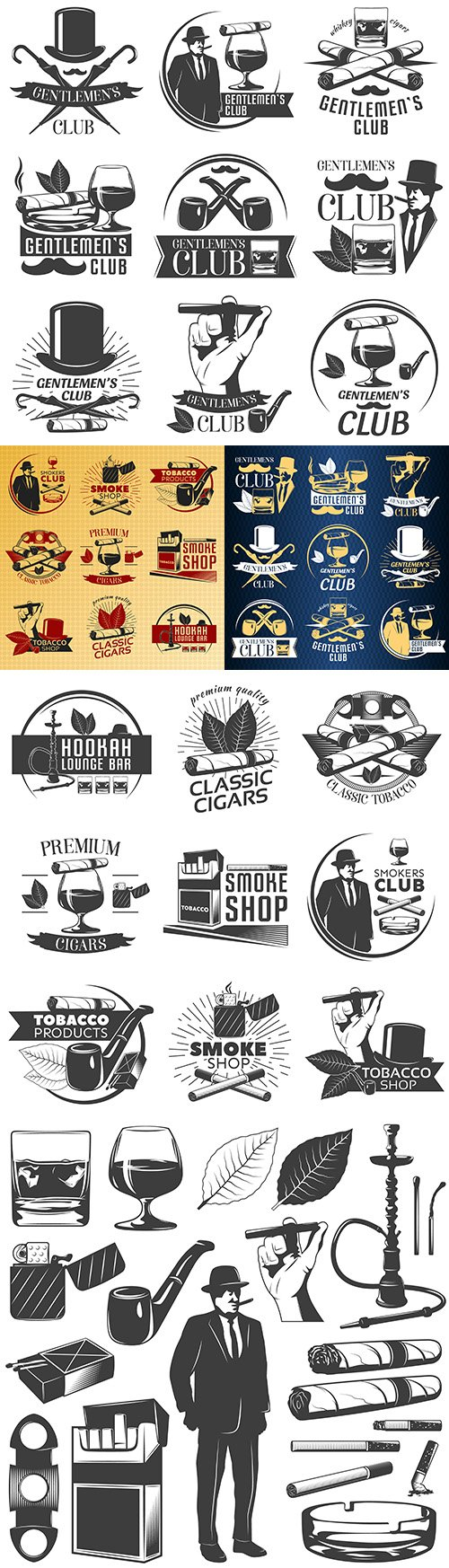 Vintage antique emblems and logos with text design 9