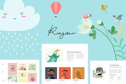 ThemeForest - Rinjani v1.0 - Template Kit for Illustrator and Designer - 28076989