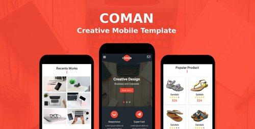 ThemeForest - Coman v1.0 - Creative Mobile Template - 20919248