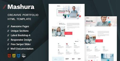 ThemeForest - Mashura v1.0 - Single Portfolio HTML Template - 27700448