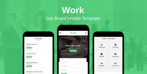 ThemeForest - Work v1.0 - Job Board Mobile Template - 20199639