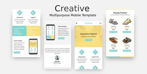ThemeForest - Creative v1.0 - Multi-Purpose Mobile Template - 20720579