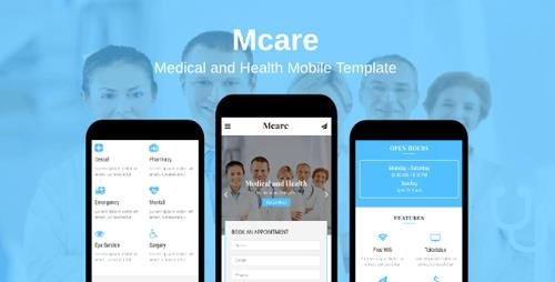 ThemeForest - Mcare v1.0 - Medical and Health Mobile Template - 20331533