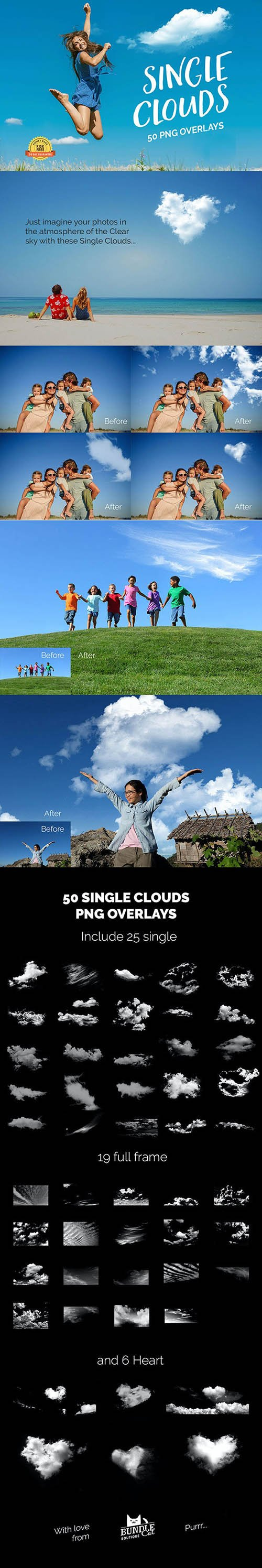 GraphicRiver - 50 Single Clouds Photo Overlays 27028119