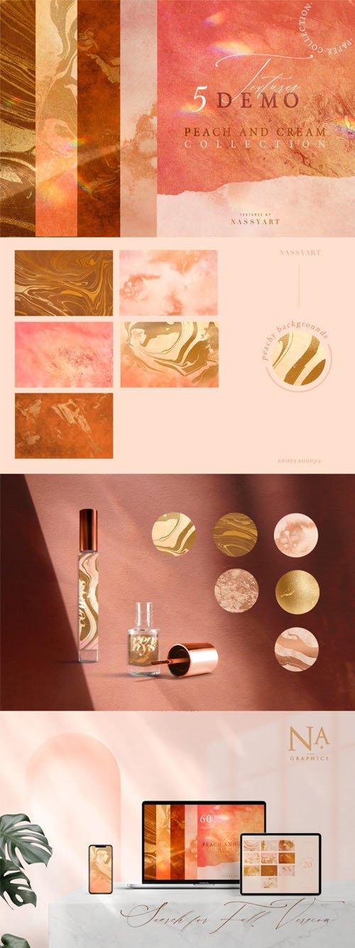 5 Peach & Cream Textures