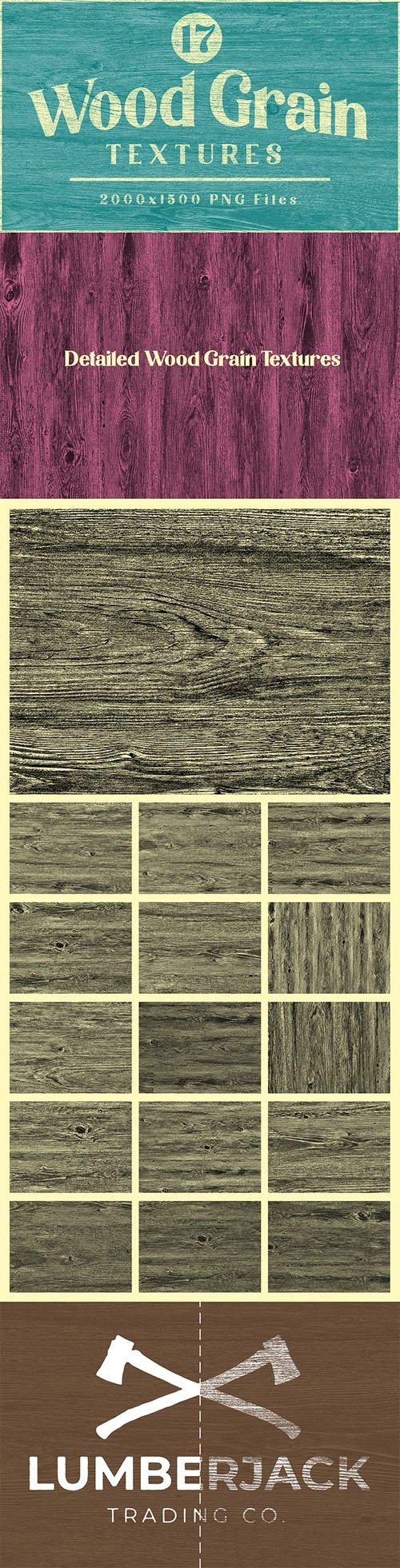 Wood Grain PNG Textures