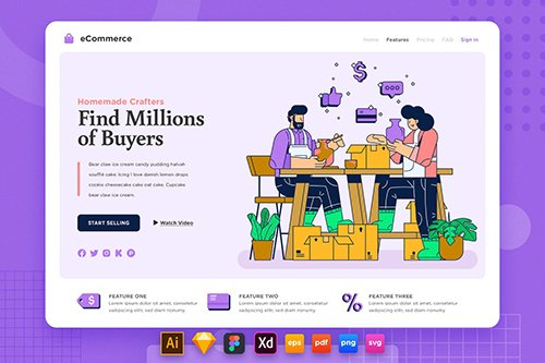 Landing Page V.22 Ecommerce - Sell Homemade Craft