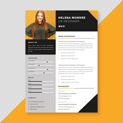 Job application template style