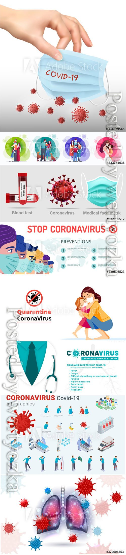 Coronavirus treatment concept vector design