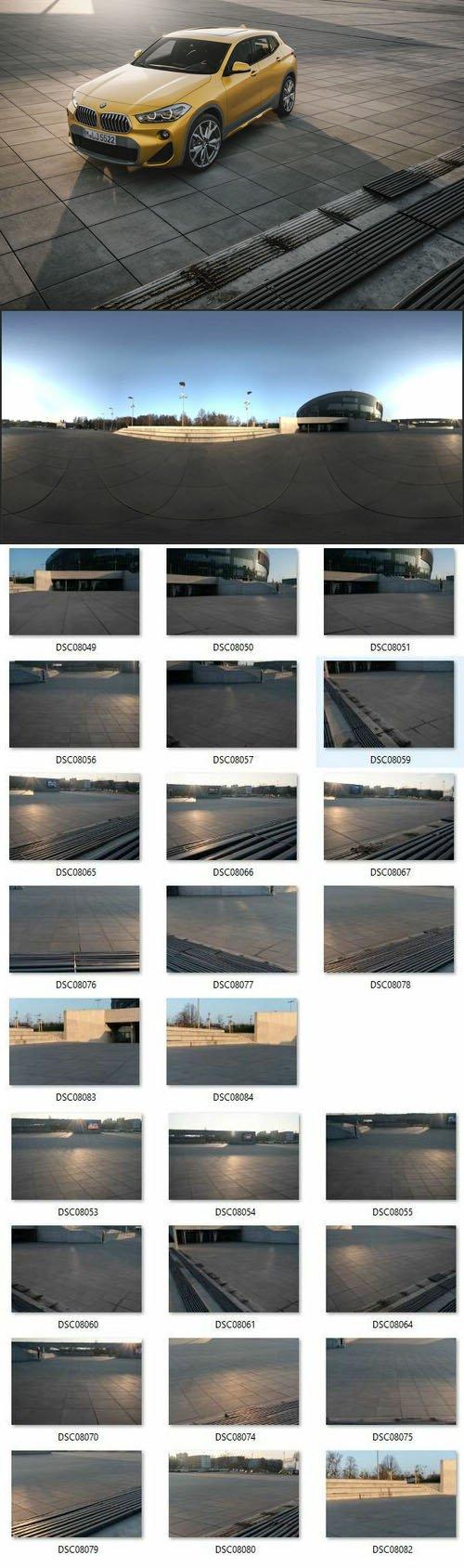 Stadium HDRi + 26 Backplates