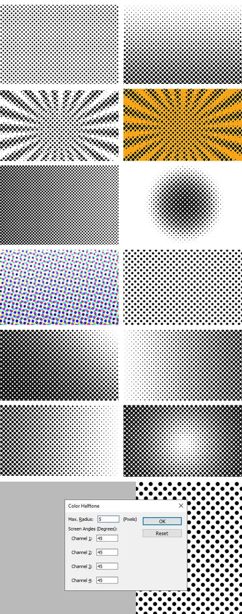 25+ Halftone Textures & Patterns for Photoshop [PAT/PNG]