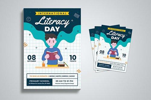 International Literacy Day Flyer Template