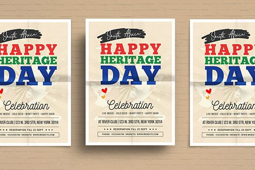 Heritage Day Flyer Template