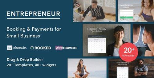 ThemeForest - Entrepreneur v2.1.3 - Booking for Small Businesses - 10761703