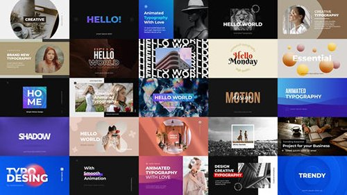 Animated Typography - For Premiere Pro 28384060