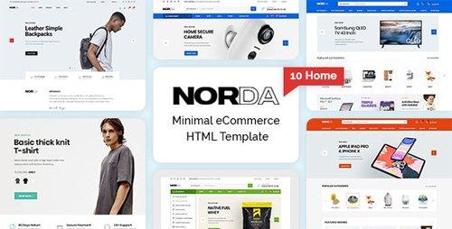 ThemeForest - Norda v1.0 - Minimal eCommerce HTML Template - 28376016