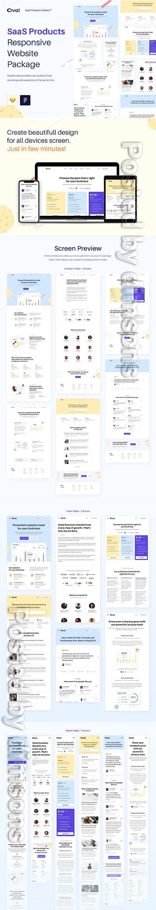 Oval SaaS Products Website Design