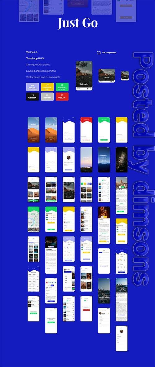 Just Go 2.0 travel app - Figma version