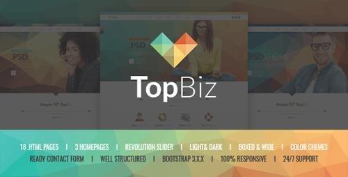 ThemeForest - TopBiz v1.0 - Responsive Corporate HTML5 Template (Update: 8 November 15) - 12493256