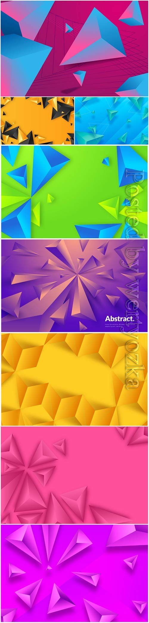 Abstract vector background, 3d models template