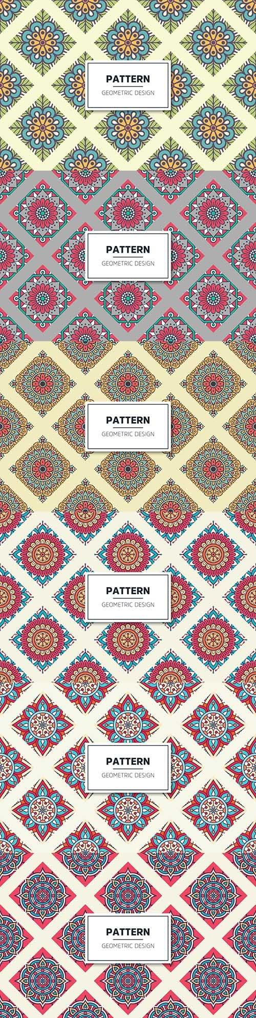 Mandala luxury decorative seamless pattern pastel tones