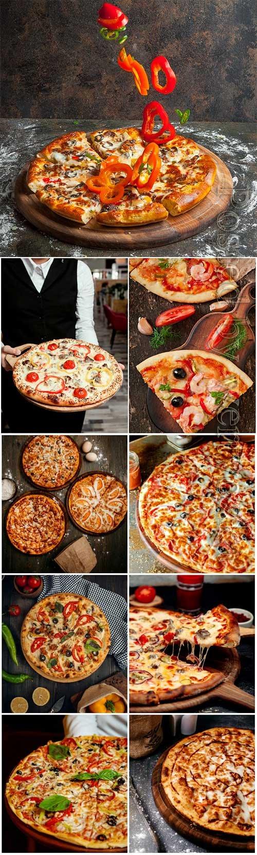 Pizza set stock photo