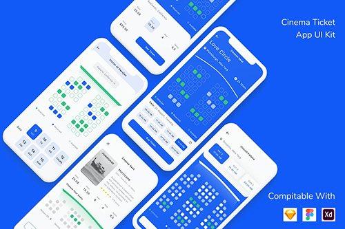 Cinema Ticket App UI Kit