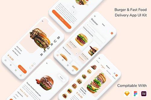 Burger & Fast Food Delivery App UI Kit