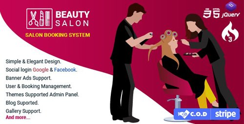 CodeCanyon - Salon Booking Management System v1.3 - 28185575