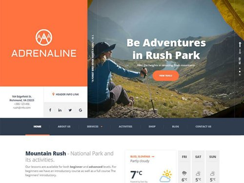 ProteusThemes - Adrenaline v1.9.0 - Sports, Travel and Outdoor WordPress Theme - NULLED