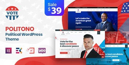 ThemeForest - Politono v1.5 - Political Election Campaign WordPress Theme - 25544443