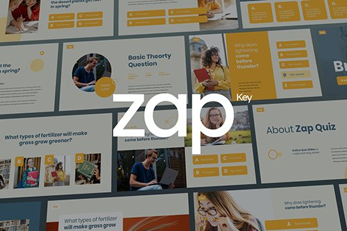 Zap - Quiz Theme Keynote Template