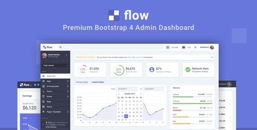 ThemeForest - Flow Pro v1.2.2 - Bootstrap 4 Admin Dashboard - 20980351