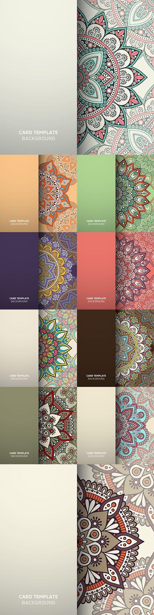 Mandala card pattern color design seamless background