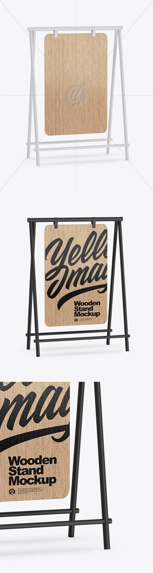 Wooden Stand Mockup 64332