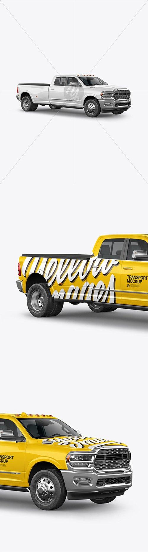 Pickup Truck Mockup - Half Side View 64087