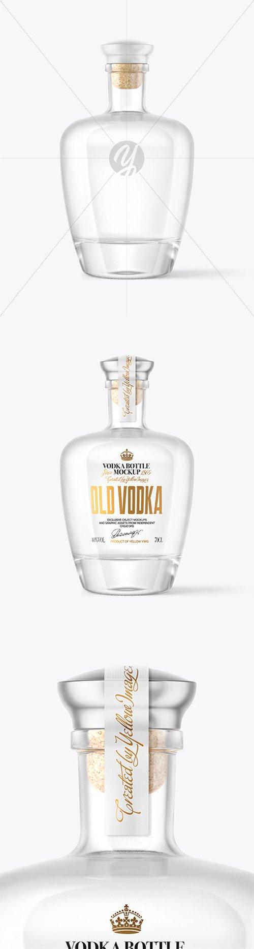Clear Glass Vodka Bottle Mockup 63867