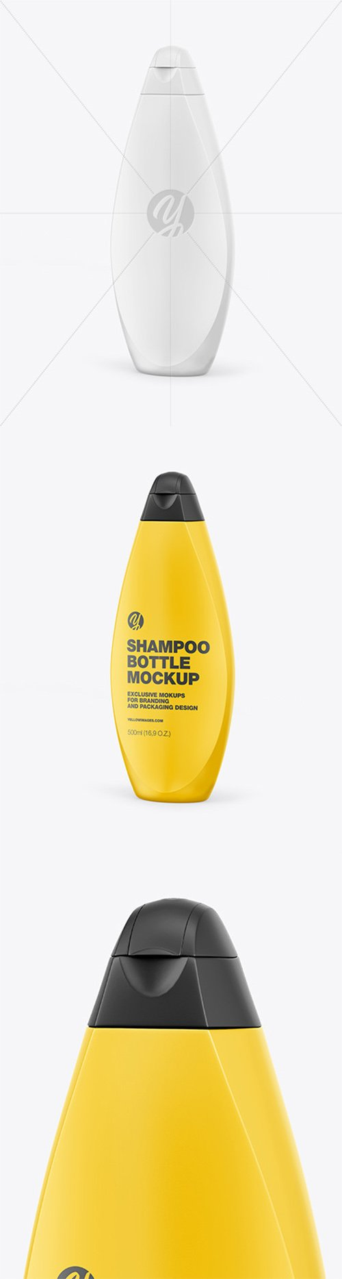 Plastic Shampoo Bottle Mockup - Half Side View 64020