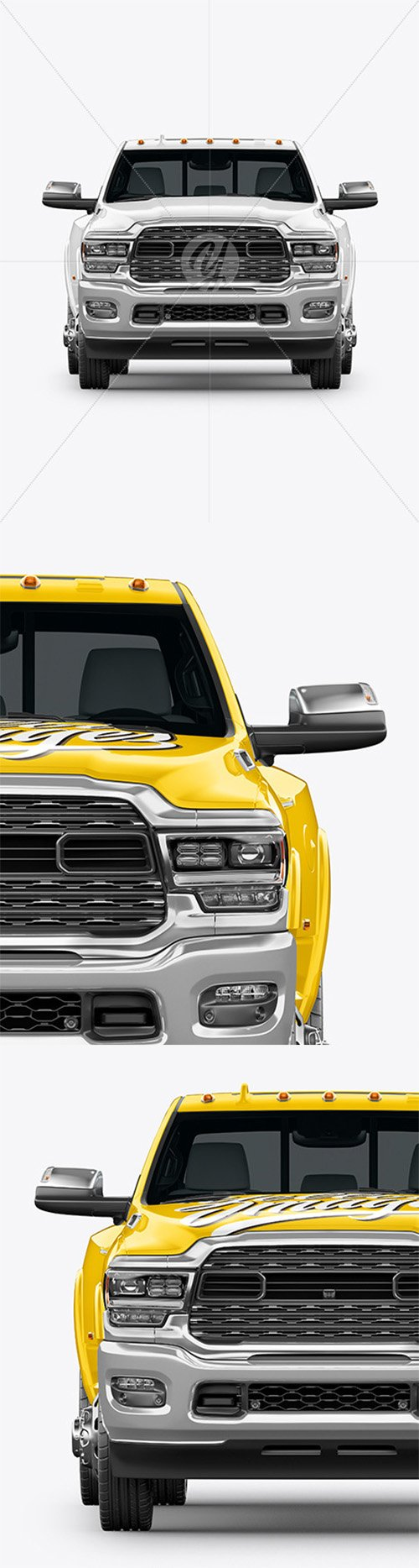 Pickup Truck Mockup - Front View 63896
