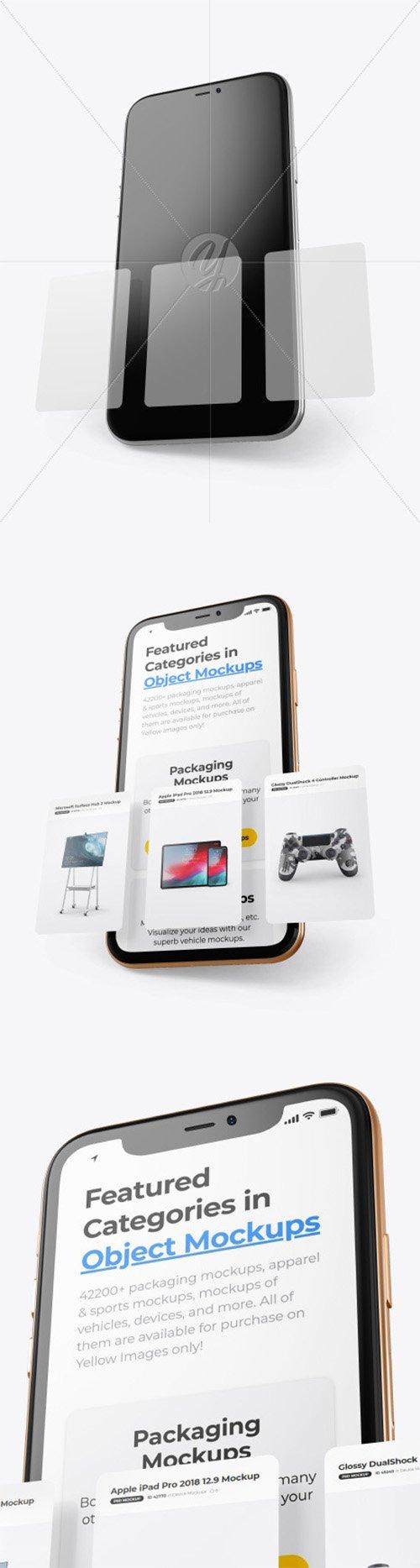 Apple iPhone 11 Pro w/ Cards Mockup 65051