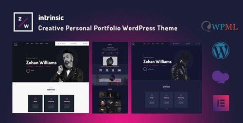 ThemeForest - Intrinsic v1.0.2 - Creative Personal Portfolio WordPress Themes - 23153655