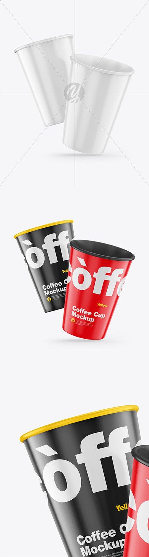 Glossy Coffee Cups Mockup 64931 TIF