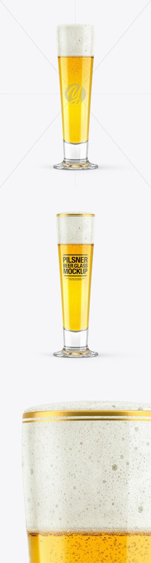 Pilsner Beer Glass Mockup 65002 TIF