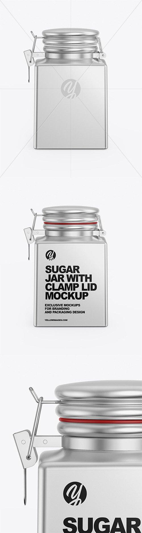 Metallic Sugar Jar Mockup 64990 TIF